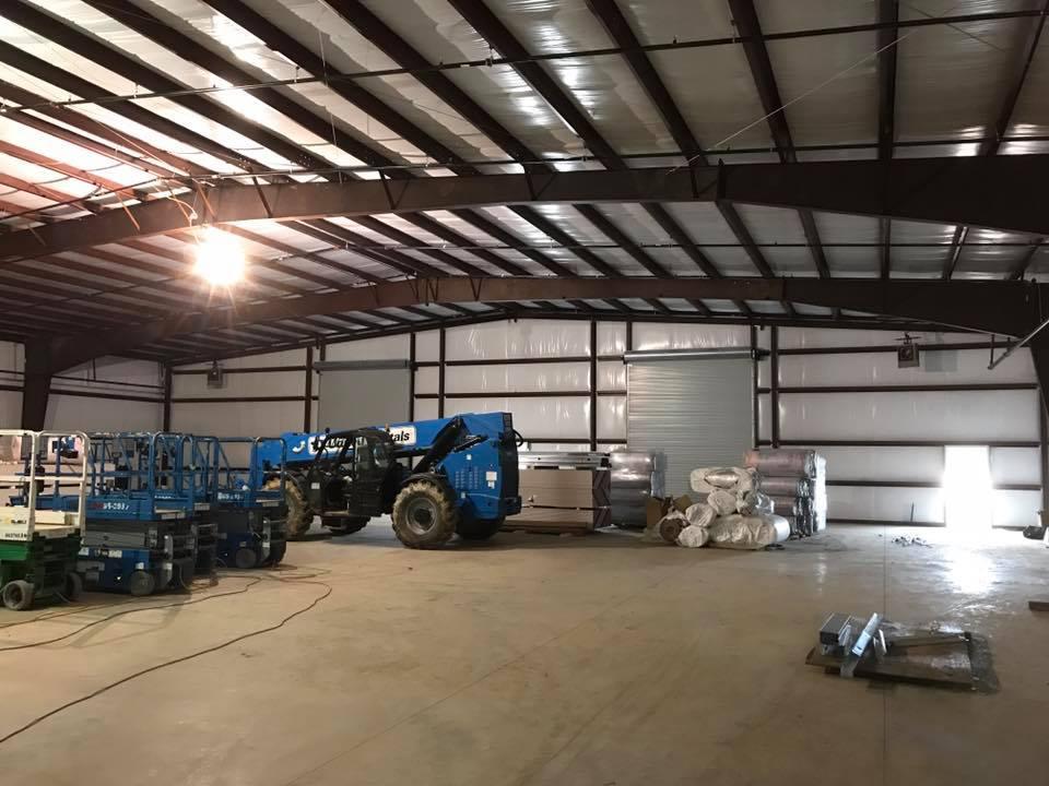Custom White Metal Building D&M Metalworks Austin Texas